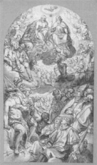 apotheose der heiligen dreifaltigkeit by johann mathias kager