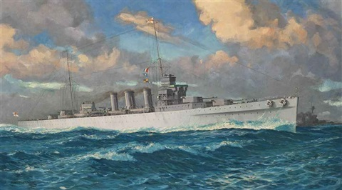 the heavy cruiser hms cumberland by william mcdowell