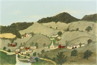 green hills by grandma moses