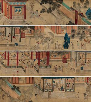 庭院人物 by qiu ying
