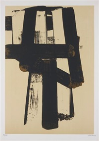 lithographie no 31 by pierre soulages