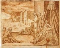 the plague of darkness by bernard (le petit bernard) salomon