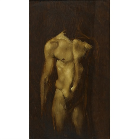 torso on wood 2 by robert r bliss