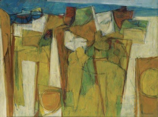 yellow landscape (from blue landscape) by hale aspacio woodruff