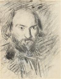 autoportrait (+ etudes pour tête de garçon (study), verso) by paul cézanne