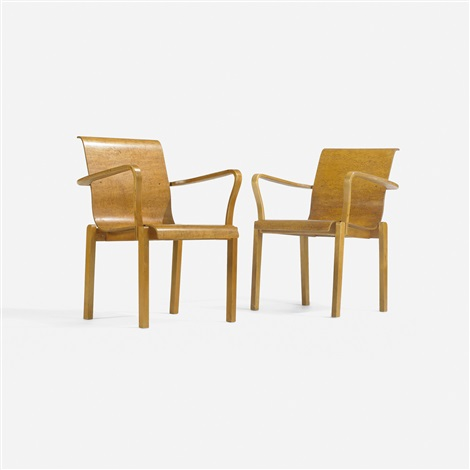 l leg desk return and pair of chairs set of 3 by alvar aalto