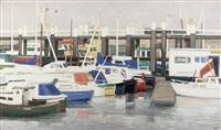bateaux au mouillage, hollande by ginette rapp