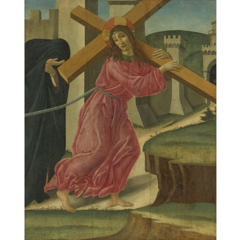 christ carrying the cross collab wstudio by sandro botticelli