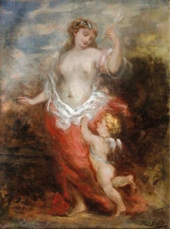 vénus et cupidon by marie abraham rosalbin de buncey