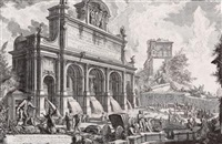 Veduta del Castello dell'Acqua Paola sul..., 1751