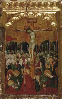 the crucifixion by spanish school (15)
