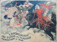 l'andalouise au temps de maures, exposition de 1900 by eugène grasset