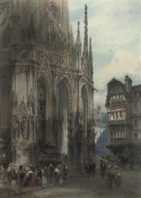 saint maclou fountain rouen by paul marny