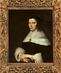 portrait of a lady in a black dress by johannes cornelisz verspronck