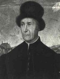 portrait of a gentleman in a fur hat by jean fouquet
