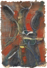 untitled (abstraction) by merton d. simpson