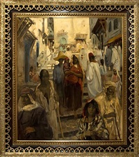algerian kasbah by gérardus hendrik grauss
