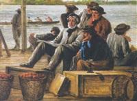 skulling on the skuykill river, philadelphia by william e. winner