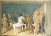 cortège avec chevaux by zygmunt dobrzycki