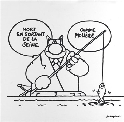 le chat comme molière by philippe geluck