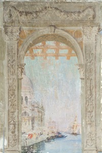 vues de venise (various sizes; 6 works) by raymond allègre