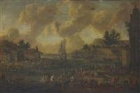 vue d'un port by pieter casteels iii