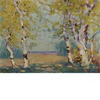 southern autumn birch by alfred heber hutty
