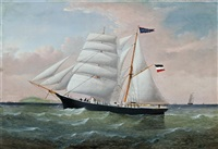 the ship gottfried at sea by william howard yorke