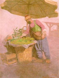 a fruit seller, istanbul by boris theo vesely