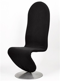set of four 1-2-3 system chairs by verner panton