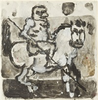 jeździec na koniu by eugeniusz markowski