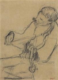 violoniste by edgar degas