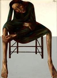 mujer sentada by francisco cortijo