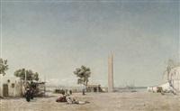 vue d'alexandrie et du port mariette by léon adolphe legendre