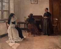 la leçon de piano by leon eugene august abry