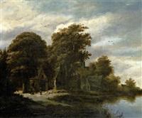 maison près d'une rivière by salomon rombouts