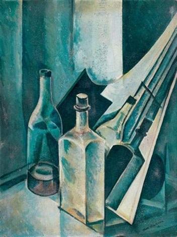étude pour un tableau nature morte aux bouteilles by natan isaevich altman