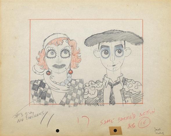 Ten animation drawings from Mickeys Gala Premiere by Walt Disney