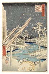 oban. serie: meisho edo hyakkei (hundert ansichten berühmter stätten in edo by ando hiroshige
