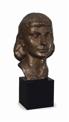 head of a young woman by william zorach
