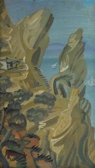 paysage de capri by alexander evgenievich iacovleff