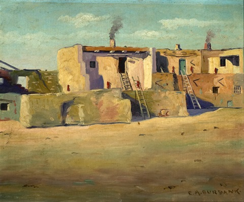 Hopi Indian Pueblo Homes Polacca Arizona By Elbridge Ayer Burbank