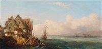 fischerdorf am meer by louis gabriel eugène isabey