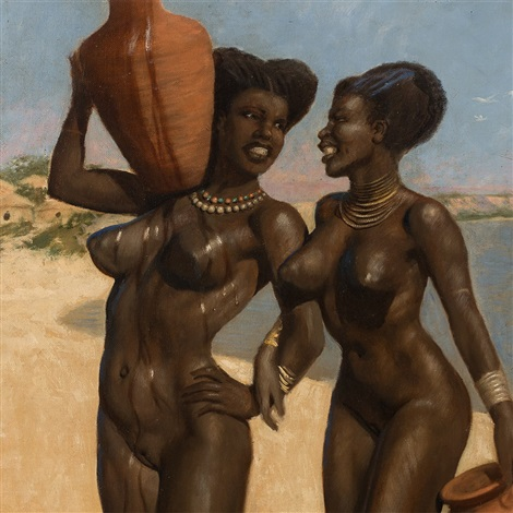 Nackte sexy Frauen am Strand