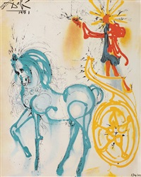 le cheval de triomphe (seria les chevaux daliniens) by salvador dalí