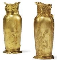 nenuphar vases (pair) by paul françois louchet