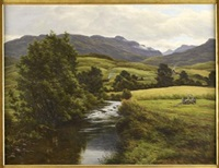 highland river landscape by john james bannatyne