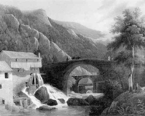 jeune garçon près du moulin dans les montagnes by atelier faria