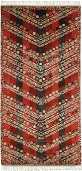 kungälvsmattan rug, designed for the kungälv's church, commissioned by the ecklesiastikdepartementet (swedish ministry of education and research), stockholm, designed, produced 1962 by barbro nilsson