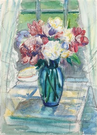 flowers in a window by william zorach